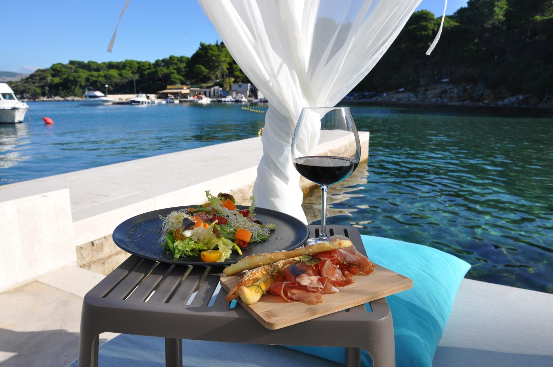 Mediterranean food by the sea