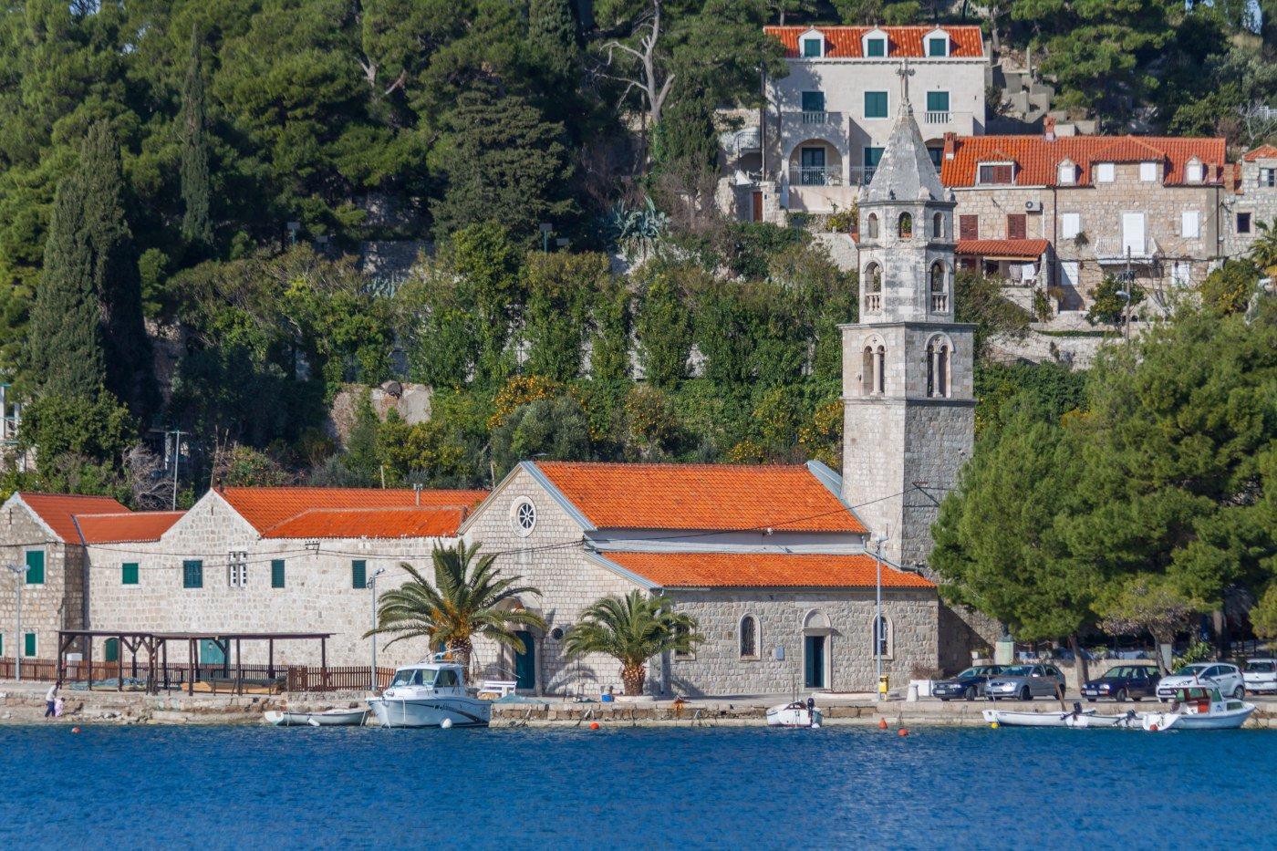 Cavtat Gospa Church on the promenade
