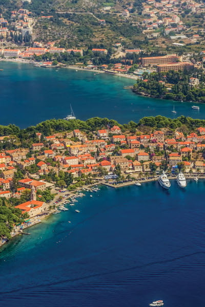 Picturesque charming town of Cavtat is just a 30 minute bat ride from Kolocep Island