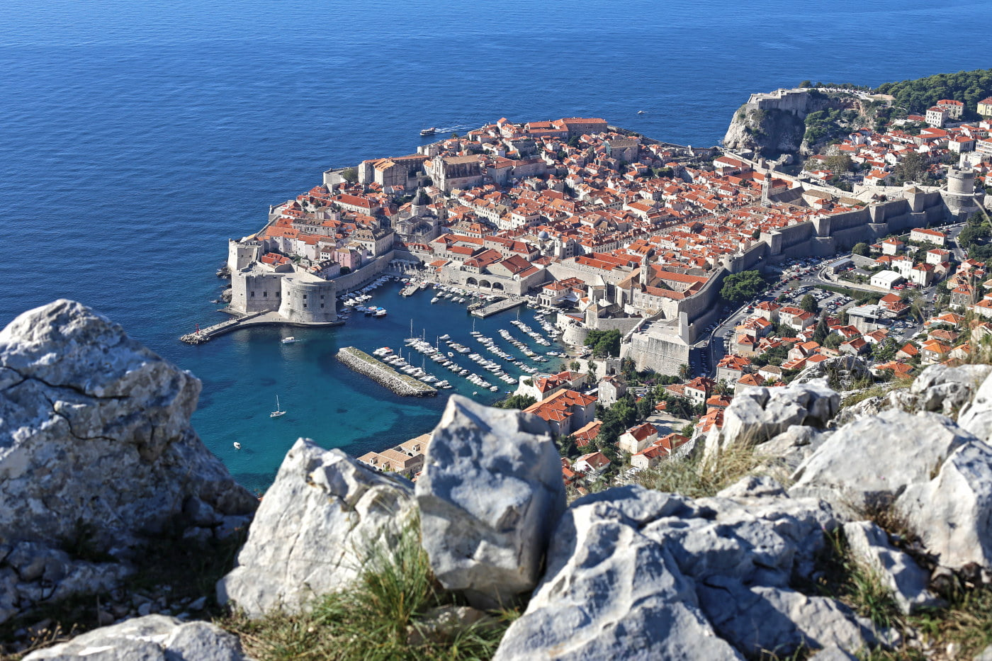 Dubrovnik Old Town Photo from Srđ mountain