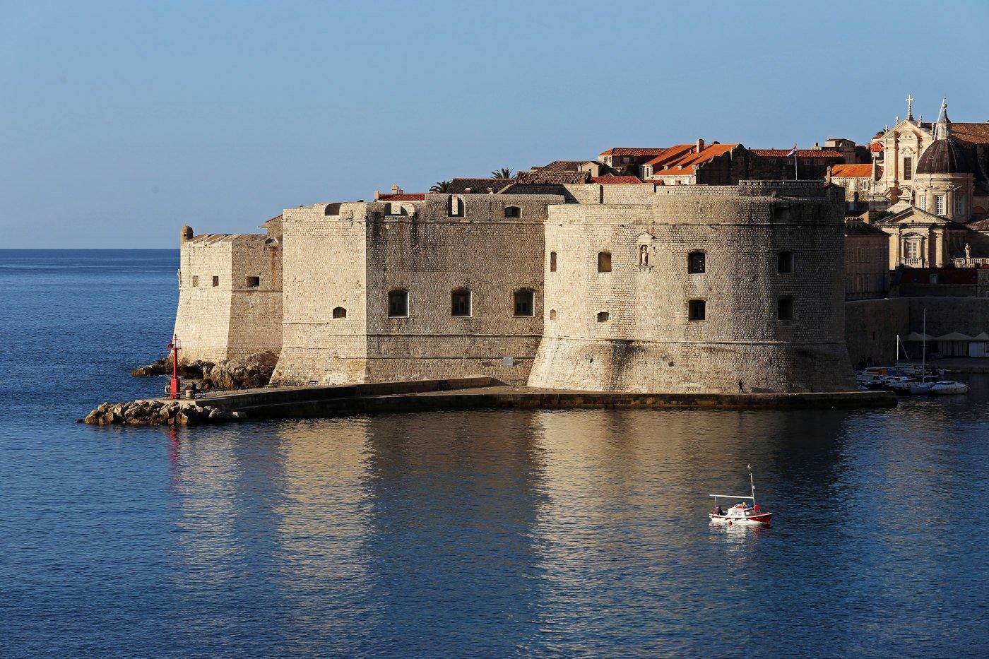 Dubrovnik St John Fortress at the port