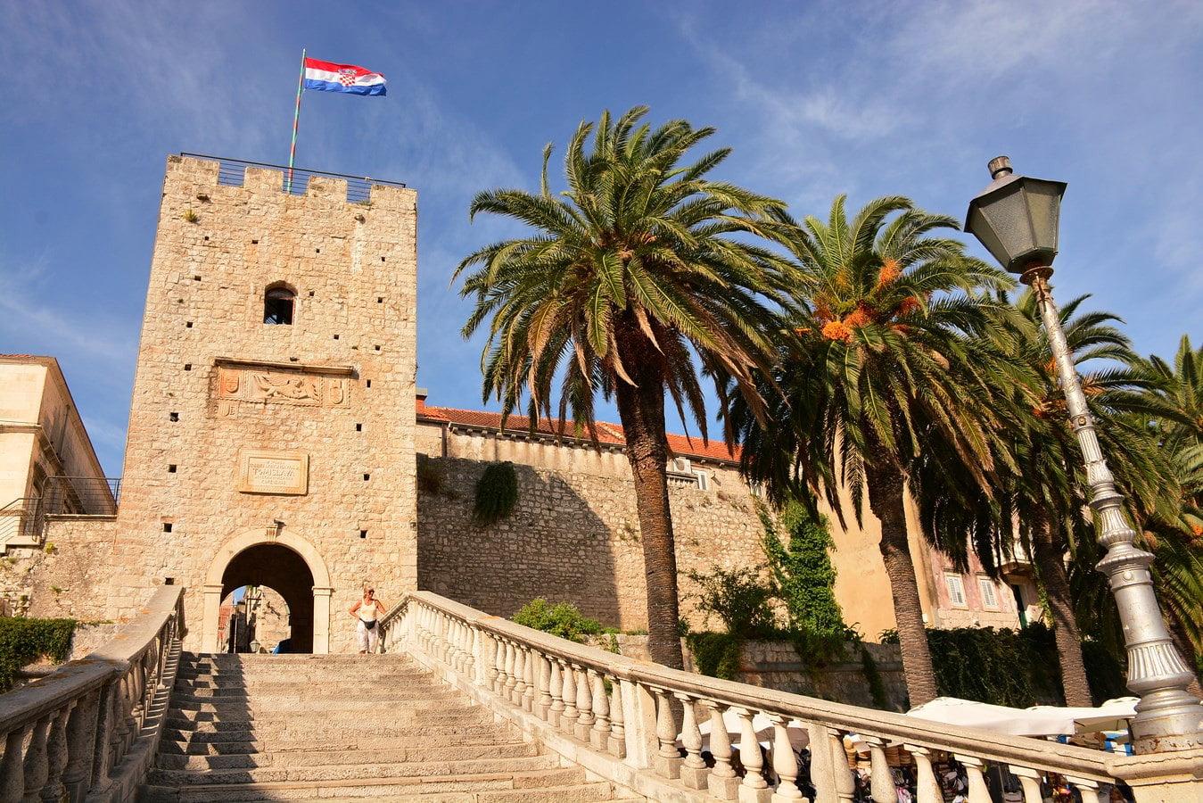 Korčula Old Town Main Gate Staircase