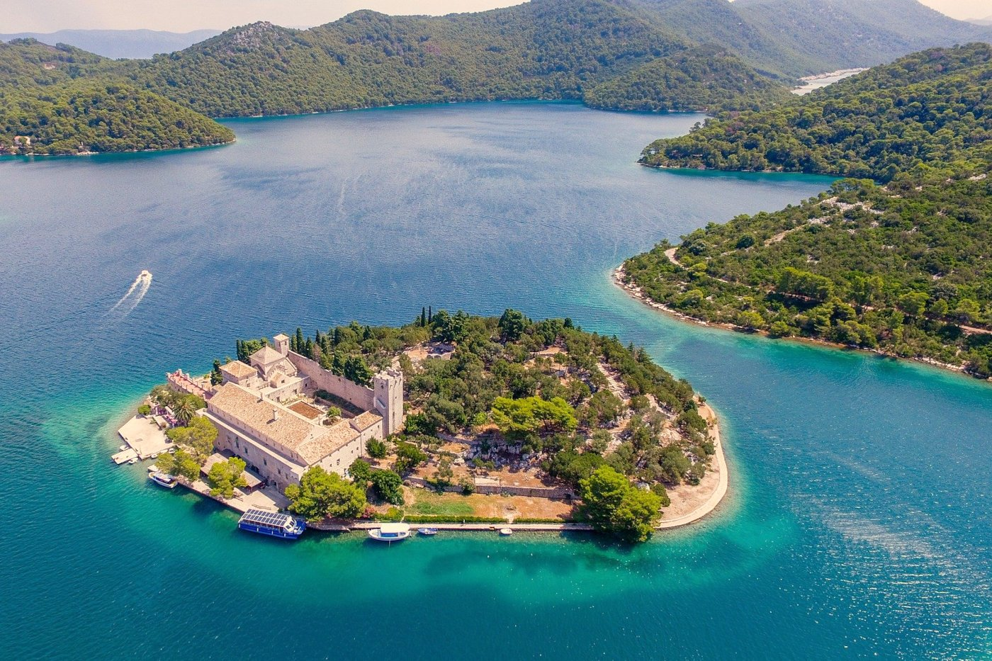 Mljet Large Lake with St Mary