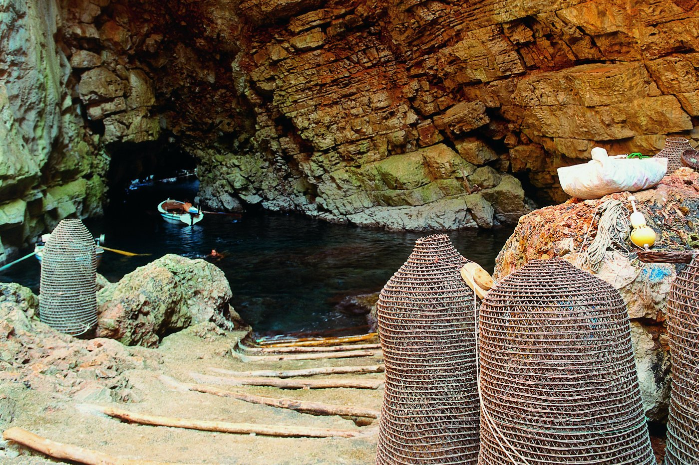 Odysseus's cave, fishermans port on Mljet