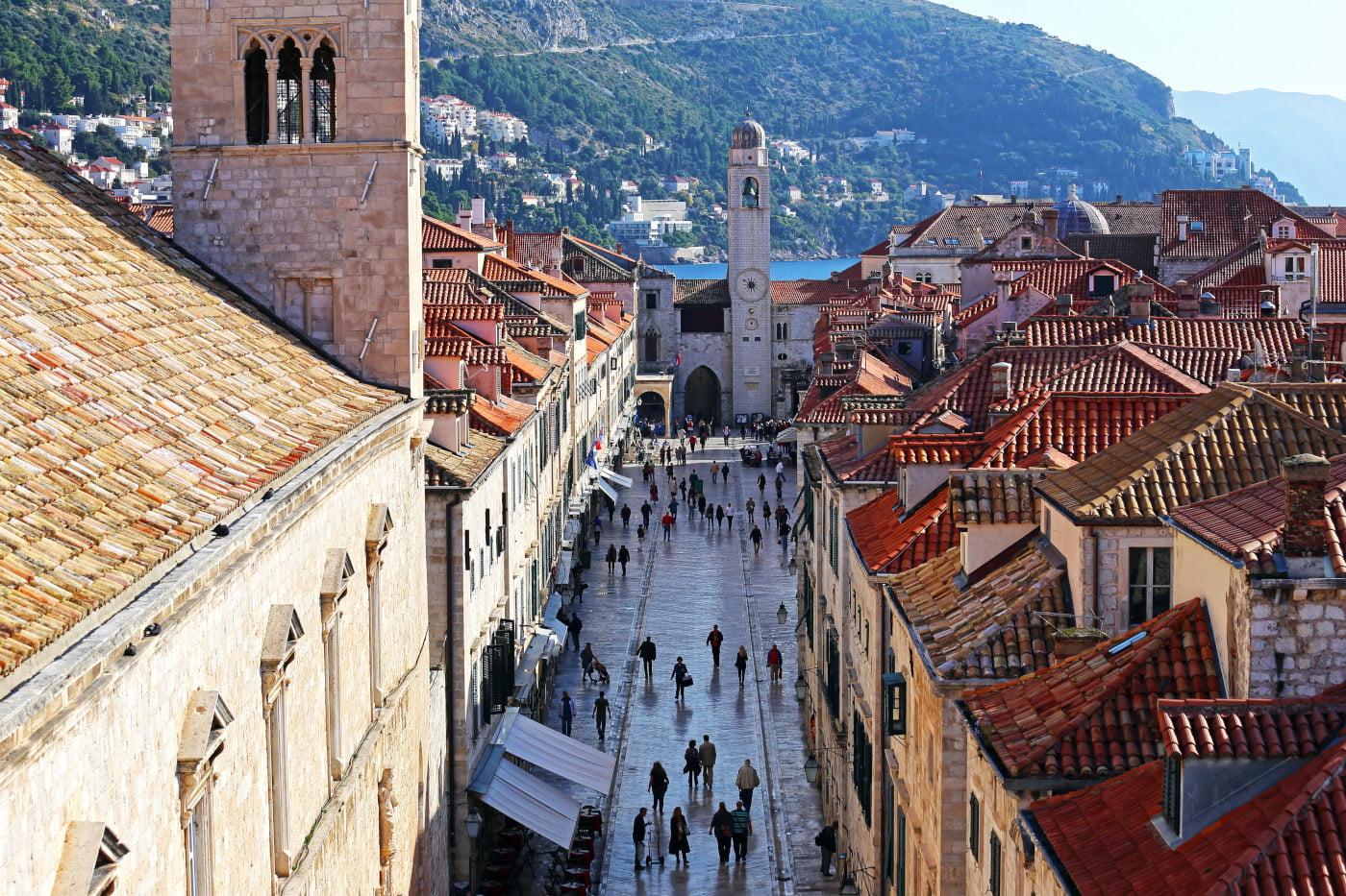 Stradun Main Street of Dubrovnik