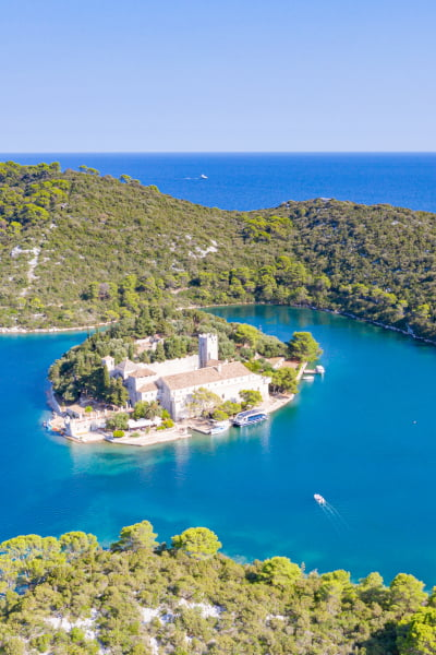 Kalamota Island Is perfect base to explore Dubrovnik region, especially the green lush island of Mljet.