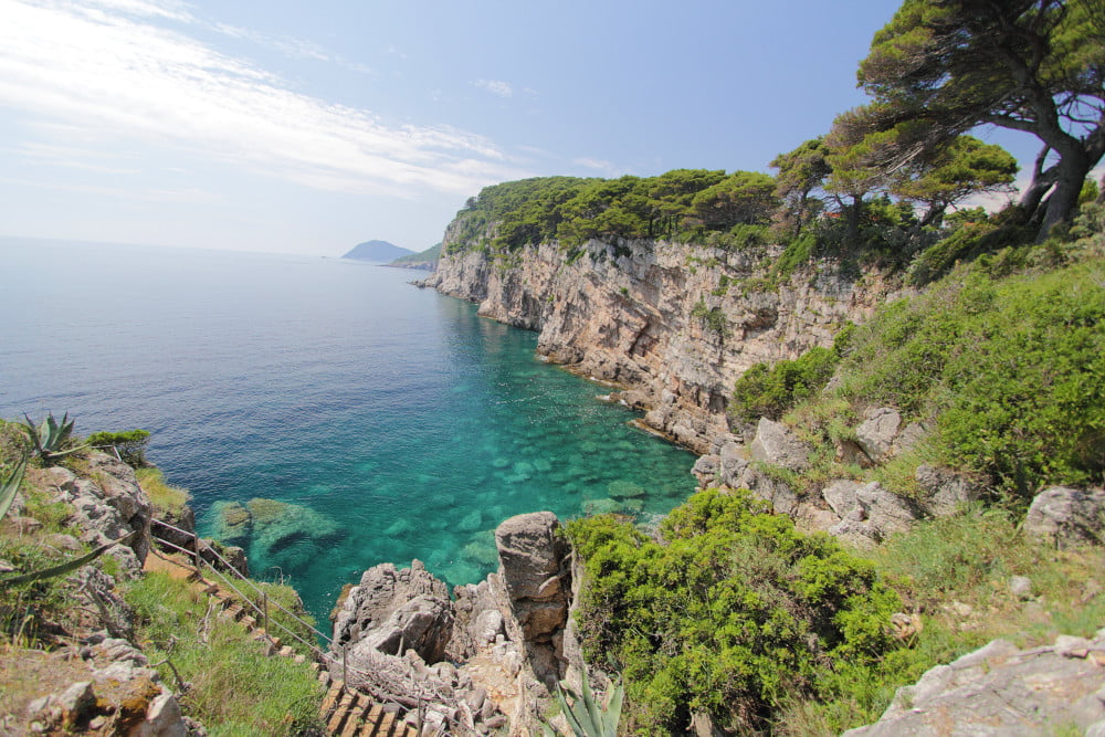 A visit to Kolocep beaches must include one of most stunning Placet.