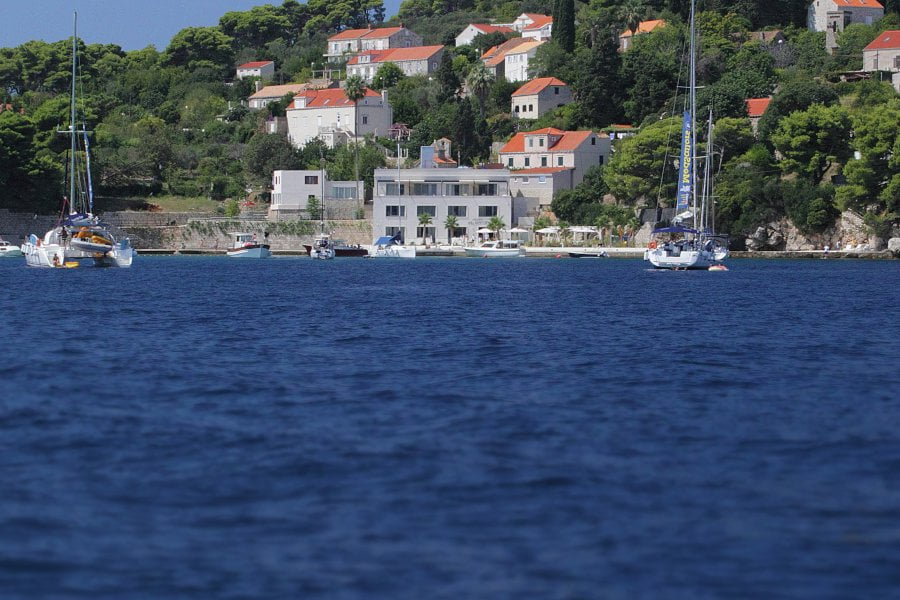 Kalamota Beach House is at Gornje Čelo on the island. Get to Koločep by taking a water taxi directly to the hotel.